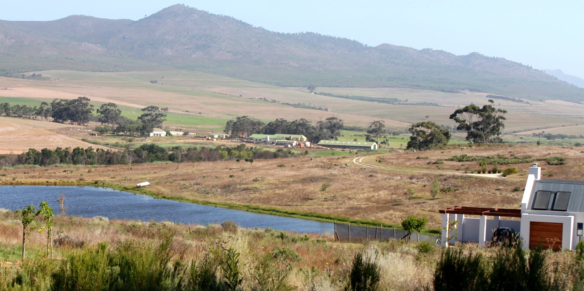 The dam at Maremmana Estate